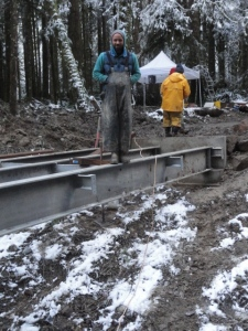 Wallace Falls State Park, Washington Trail bridge construction 2014