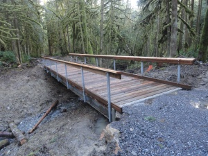 2014 Bridge at Wallace Falls State Park, Washington - one of three.